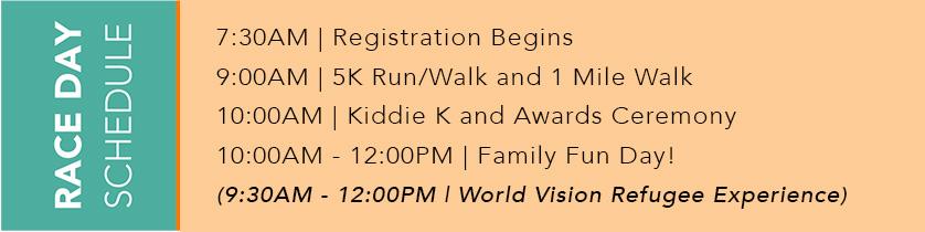 5k race schedule